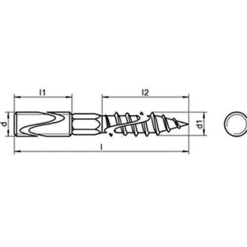 Stockschrauben A2 M 8X100 Stockschrauben mit Holz-und ISO-Gewinde-A2 10 Stk