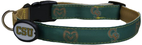 Dog-E-Glow Colorado State University Rams Lighted LED Dog Collar, Medium, 10-Inch by 15-Inch