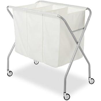 Amazon Com Whitmor 3 Section Laundry Sorter Collapsible