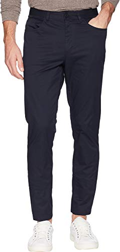 - Kenneth Cole New York Men's Stretch Sateen Five-Pocket Casual Pants Navy 38 30
