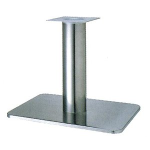 e-kanamono テーブル脚 マリオS7680 ベース680x455 パイプ76.3φ 受座240x240 ステンレス AJ付 高さ700mmまで B012CC42AC