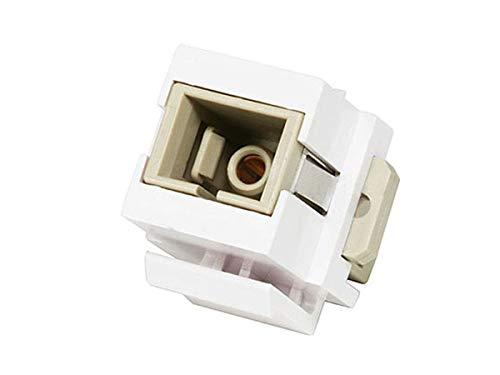 Monoprice Modular SC Fiber Optic Keystone Jack Coupler - White (Fiber Coupler Sc Optic Insert)