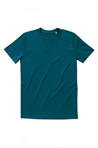 """Stedman Herren Herren V-Neck T-Shirt """"James"""" ST9210 Pacific Blue XXL"""