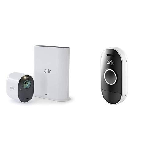 Arlo Ultra – 4K UHD Wire-Free Security Camera |Indoor/Outdoor Security Camera with Color Night Vision, 180° View, 2-Way Audio, Spotlight, Siren | Works with Alexa