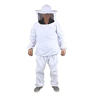 Beekeeping Protective Jacket Suit Pants with Veil for Professional and Beginner Beekeepers