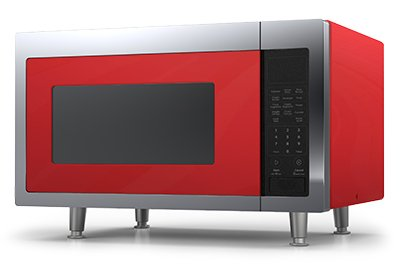 Big Chill Retro Microwave 1.6 cu. ft. 1200 watts Cherry Red