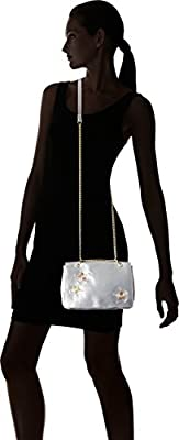 T-Shirt & Jeans Flap Cross Body with Embroidered Stars and Chain Strap