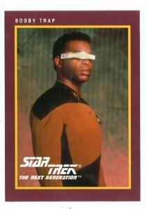 Star Trek The Next Generation card #186 Booby Trap Geordi La Forge LaVar Burton (Star Trek The Next Generation Booby Trap)