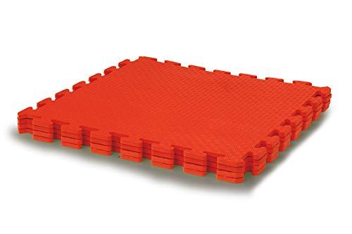 Resistente Antideslizante -Sistema de conexi/ón f/ácil Jamara 460419-Alfombra Puzzle 50 x 50 cm 4pz 460419 Color Rojo Lavable