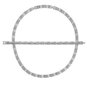 1001 Bijoux - Parure acier satiné avec vis brillantes