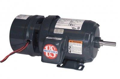 - US Motors (Nidec), BMU32S2AFCR, 1.5HP, 1730RPM, 3PH, 230V;460V;190V;380V, 56C Frame, Brake Motor.