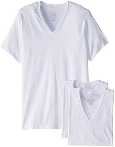 تی شرت ، آستین کوتاه V- گردن آستین کوتاه V-گردن ، کلاسیک پنبه کلاسیک 3 بسته