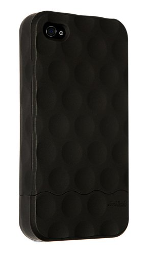 Hard Candy Cases Bubble Slider Soft Touch Case for Apple iPhone 4 (AT&T Version Only), Black, ()