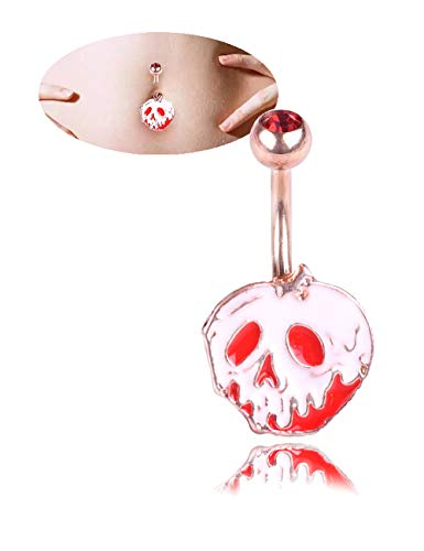 CEYIYA Cute Belly Button Ring Hoop - Surgical Steel Short Pumpkin Head Navel Rings 18k Gold/White Gold Plated Ideal Gift for Women/Men/Girls,Lips Belly Piercing Jewelry ()