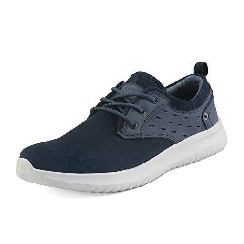 Bruno Marc Men's Walking Shoes Suede Fashion Sneakers Walk-Lite-01 Blue Size 9 M US