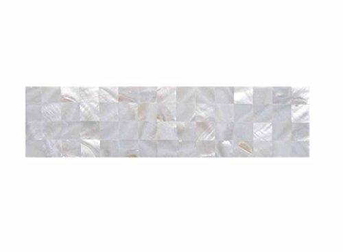 Mother of Pearl Tile Border 3'' x 12'' for Kitchen Backsplashes, Bathroom Walls, Spa Tile, Pool - Iridescent Tile Bathroom