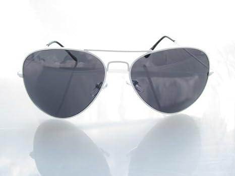 Alpland Sonnenbrille- Pilotenbrille Weiss mit Soft Bag CgxM6K