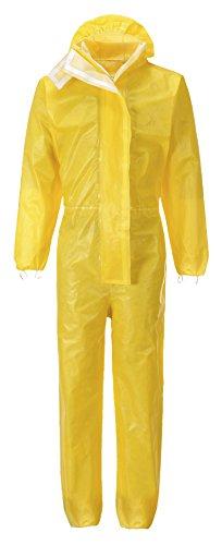 Einweg-Schutzanzug BizTex gelb Chemikalien Schutzoverall Typ 3/4/5/6 (L)