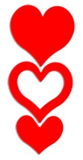 Triple Heart Tanning Stickers 100 Pack