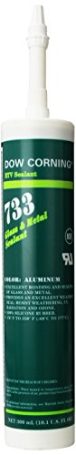 Dow Corning 2468387 733 Aluminum Glass and Metal Sealant, -57 to 177 Degree C, 300 mL