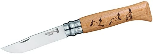 Opinel N Degree8 Stainless Steel Animalia Chamois Boxed Stainless Steel Knife, 8.5 cm Blade