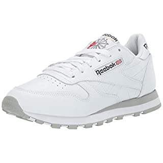 Reebok Men's Classic Leather Casual Sneakers, White/White/Light Grey 2, 12 M US