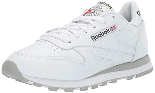 (Reebok Men's Classic Leather Sneaker, White, 6.5 M)