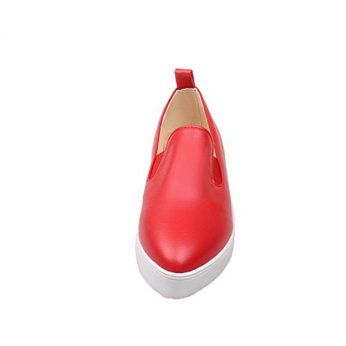 Tonda Ballet Punta Tirare VogueZone009 Puro Basso Luccichio Tacco Rosso Flats Donna qt8TZ8wI