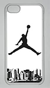 Michael Jordan Chicago Bulls #23 NBA Sports Custom PC Transparent Case for iPhone 5C by icasepersonalized