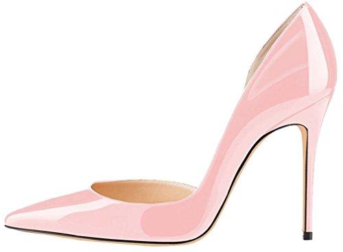 Calaier Damen Camovie 12CM Stiletto Schlüpfen Pumps Schuhe Pink