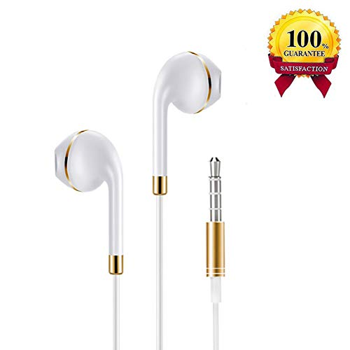 Wired Earbuds, Tbtoop Stereo Sound Headphones Earphones with Mic&Remote Control and Noise Isolating Compatible for iPhone 6 6 Plus 6s 5s 5 iPad iPod(1 Pack White)