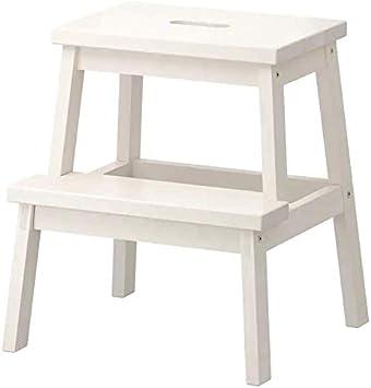 Oferta amazon: Ikea Tritthocker in weiß aus Massivholz Bekväm-Taburete de Madera Maciza, Color Blanco, 50 cm