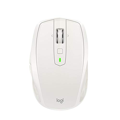 (Logitech MX Anywhere 2S Wireless Mouse - Use On Any Surface, Hyper-Fast Scrolling, Rechargeable, Control up to 3 Apple Mac and Windows Computers and laptops (Bluetooth or USB), Light Gray)