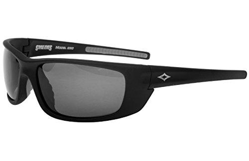 Style Eyes Optics Fever Polarized Smoke sunglasses, Matte Black, One - Eyes Style Sunglasses