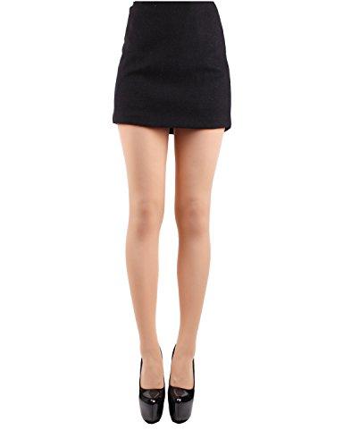 10STAR11 Women's 80 Denier Comfortable Semi Opaque Colorful Pantyhose Tights NUDE,O (Womens Nude Opaque Pantyhose)
