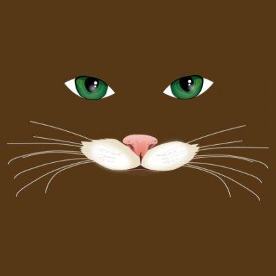 Sudadera con capucha de mujer Cat Face by Shirtcity Marrón