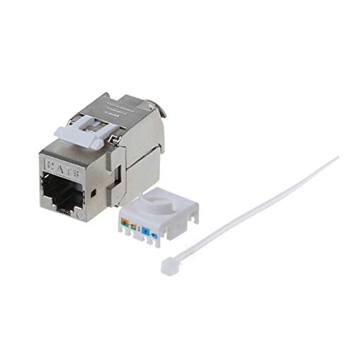 HOWWOH 1 Piece RJ45 Keystone Cat6 Cat6A Shielded FTP Zinc Alloy Module Keystone Jack Network Connector Adapter