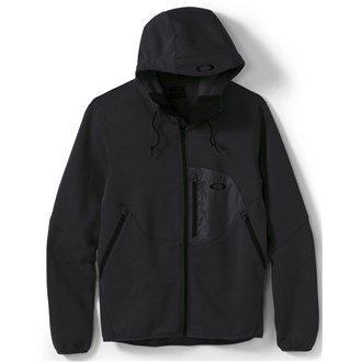 Oakley Men's Hydrofree Fleece Full Zip Hoodie Jacket - Jet Black - Full Jacket Oakley