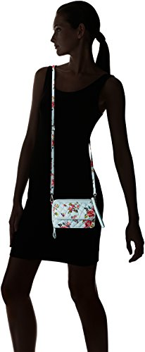 Vera Water Bradley All Crossbody Rfid Bouquet Cotton in Iconic Signature One 7q7Apr