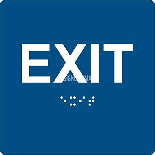ADA EXIT Sign Braille Grade II, 6