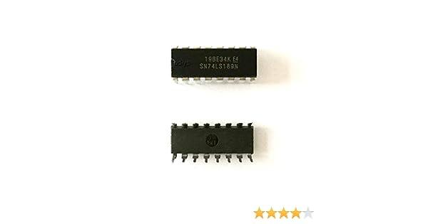 Todiys New 5Pcs for 74LS189 SN74LS189N SN74LS189AN 74LS189AN HD74LS189P DM74LS189N DIP-16 64-BIT Random Access Memory IC SN74LS189