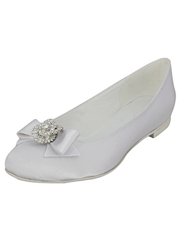 matrimonio o gioiello avorio e fiocco BIANCA nbsp; Ballerina SxCwvqTdcS