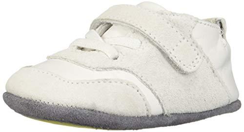 Robeez Boys' Low Top Sneaker-Mini Shoez Crib Shoe, White, 6-9 Months