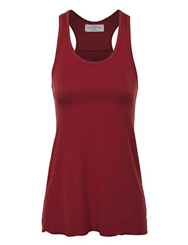 (WT830 Womens Everyday Racer Tank L WINE_RAYON)