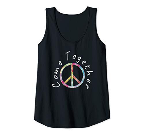 Womens Flourish Peace Sign  Tank Top