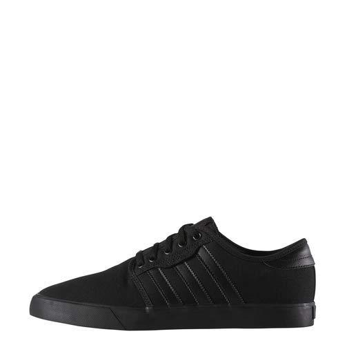 adidas Originals Men's Seeley Running Shoe, Black/Black/Black, 10 M US