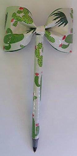 Cactus Duct Tape Bow Pen -