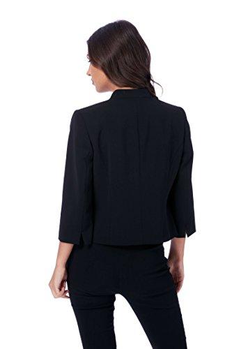 Originals Roman Uni Courte Noir Bureau 3 4 Simple Veste Noir Manches Bd7qxnwdpT