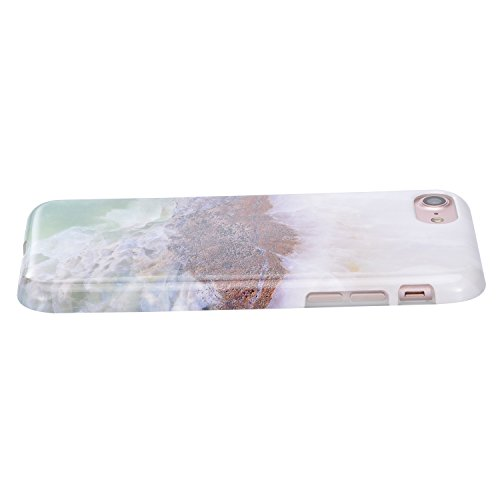 para iPhone 5 SE 5S Funda Mármol Sunroyal® Suave TPU Carcasa Parachoques Case Cover [Shock-Absorción] [Anti-Arañazos] TPU Gel Silicona Funda Cubierta Protectora Ultra Slim Flexible Caja del Teléfono p A-05