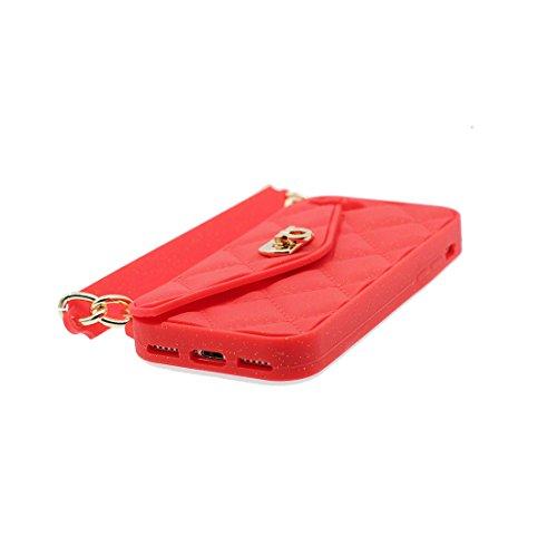 iPhone 7 Copertura,iPhone 7 Custodia,rosa borsetta del fumetto 3D bella copertura molle della cassa del silicone di TPU della pelle protettiva della pelle Case Cover per iPhone 7 4.7 inch Colour 3